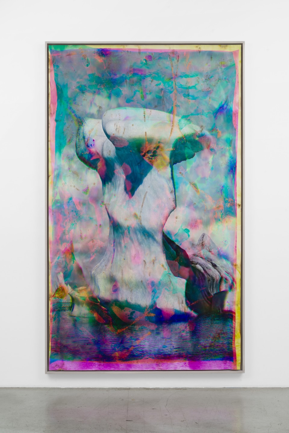 Artwork: Matthew Brandt  Vatnajökull CMY1, 2018-2020  signed, titled and dated verso  heated chromogenic print, with acrylic varnish and Aqua-Resin support  120 x 72 inches (304.8 x 182.9 cm)