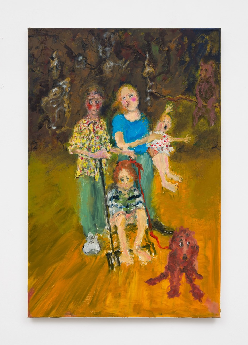 Image: Eva Beresin  Bear watch, 2021  signed, dated and titled verso  oil on canvas  47 1/4 x 31 1/2 inches (120 x 80 cm)