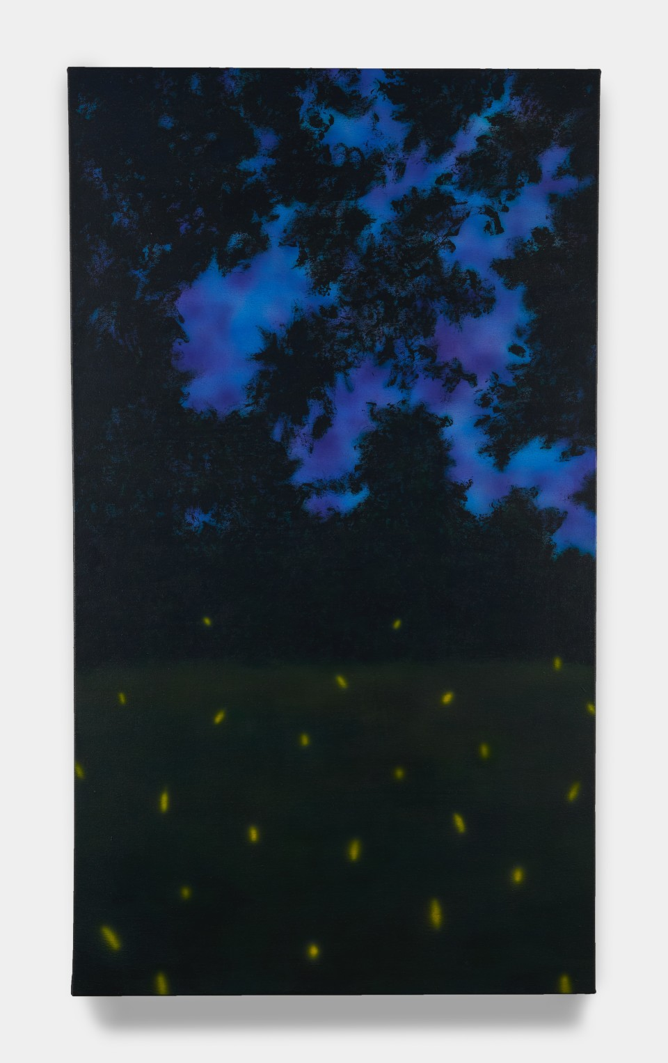 Image: Sung Hwa Kim  Nocturne: Tonight, I'll send you the firefly from that day to near your window, 2020  signed, titled and dated verso  acrylic on canvas  56 x 32 inches (142.2 x 81.3 cm)