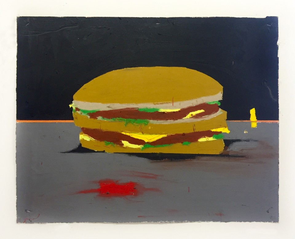 Image: Harold Ancart  Untitled (Big Mac), 2016  oil stick and pencil on paper  25-1/4 x 29-1/2 inches