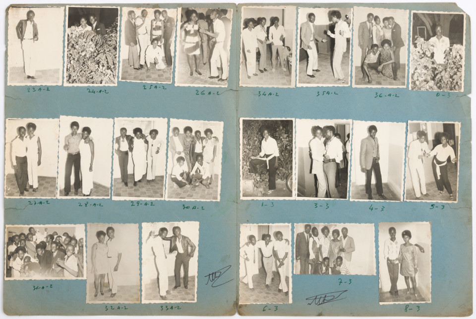 Image: Malick Sidibé  Arrosage Kassim Dembéle 23-9-70, 1970  numerical notations under each print and initialed recto; titled and dated verso  collection of 22 vintage gelatin silver prints mounted on paper  12-1/2 x 19 inches