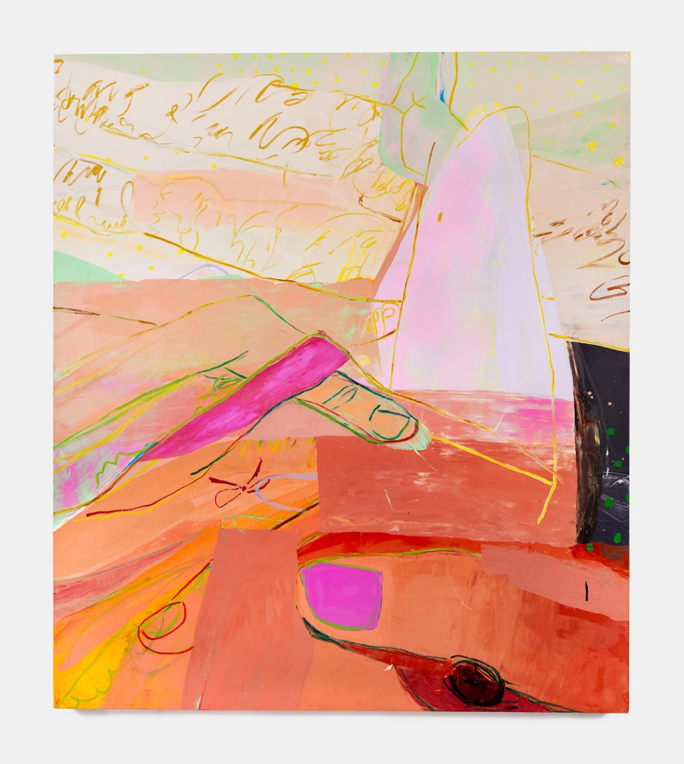 Image: Sarah Faux  Clench and release, 2019  oil on canvas  80 x 70 inches (203.2 x 177.8 cm)