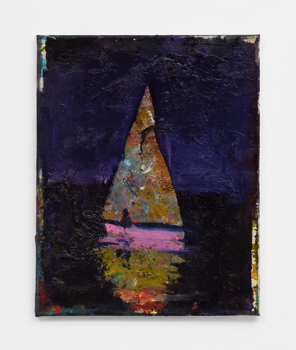 Image: Nathan Zeidman  Sailboat, 2015  signed and dated verso  acrylic, oil paint and oil stick on canvas  20 x 16 inches (50.8 x 40.6 cm)