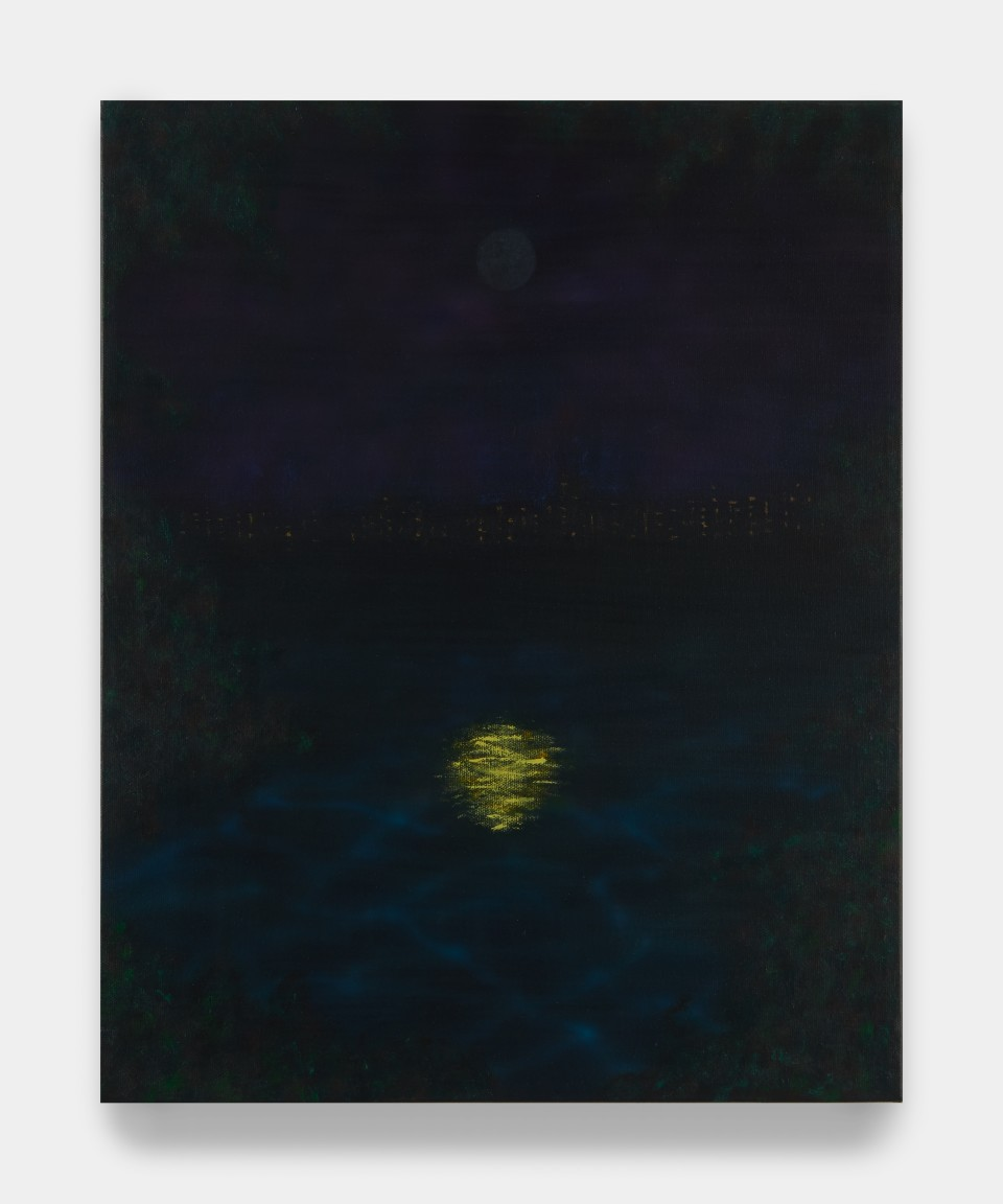Image: Sung Hwa Kim  Nocturne: When it dawns, tomorrow comes, 2021  signed, titled and dated verso  acrylic and gouache on canvas  20 x 16 inches (50.8 x 40.6 cm)