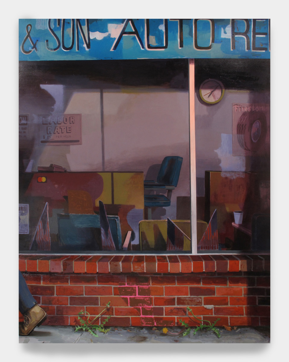 Image: Matt Bollinger  Labor Day, 2020  Flashe and acrylic on canvas  78 x 60 inches (198.1 x 152.4 cm)
