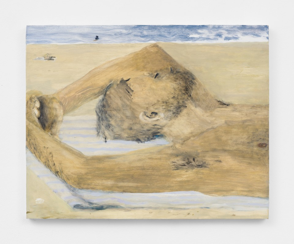 Artwork: Aubrey Levinthal  Beach Man (After Ingres), 2021  signed, titled and dated verso  oil on panel  16 x 20 inches (40.6 x 50.8 cm)
