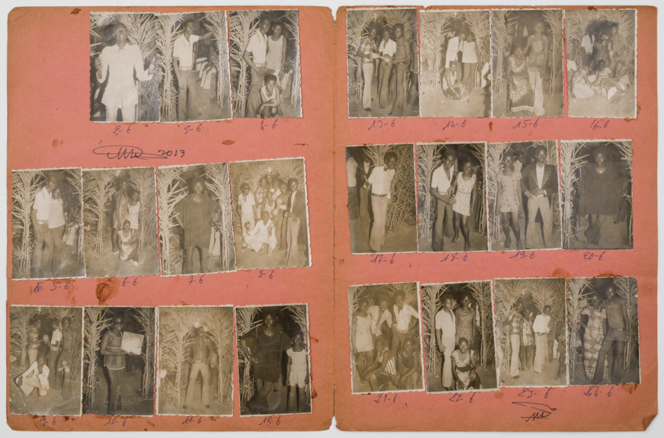Image: Malick Sidibé  Nuit du 14/7/73, 1973  numerical notations under each print and initialed recto; titled and dated verso  collection of 23 vintage gelatin silver prints mounted on paper  12-3/4 x 19-1/2 inches
