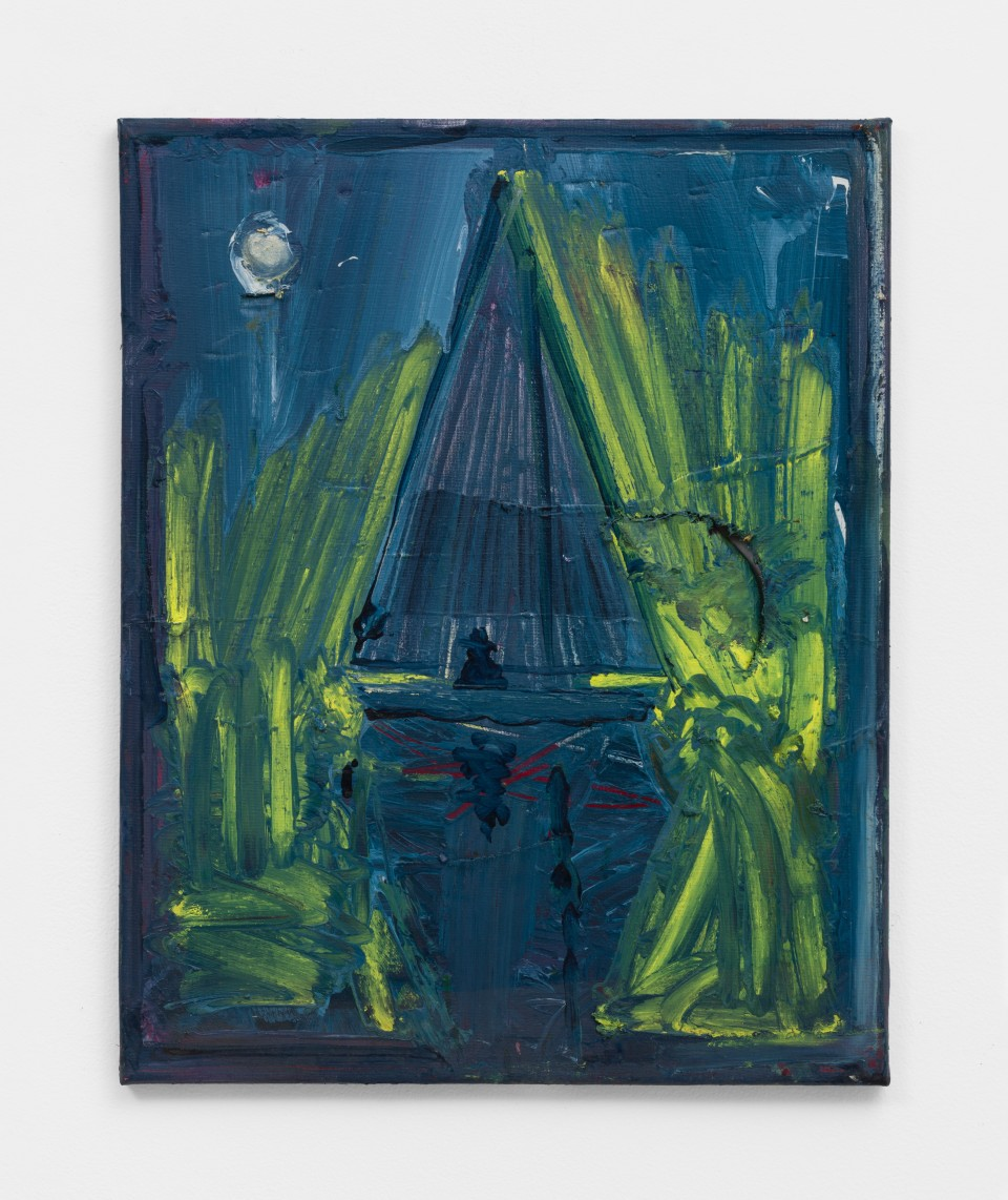 Image: Nathan Zeidman  Sailboat, 2015  signed and dated verso  acrylic and oil stick on canvas  20 x 16 inches (50.8 x 40.6 cm)