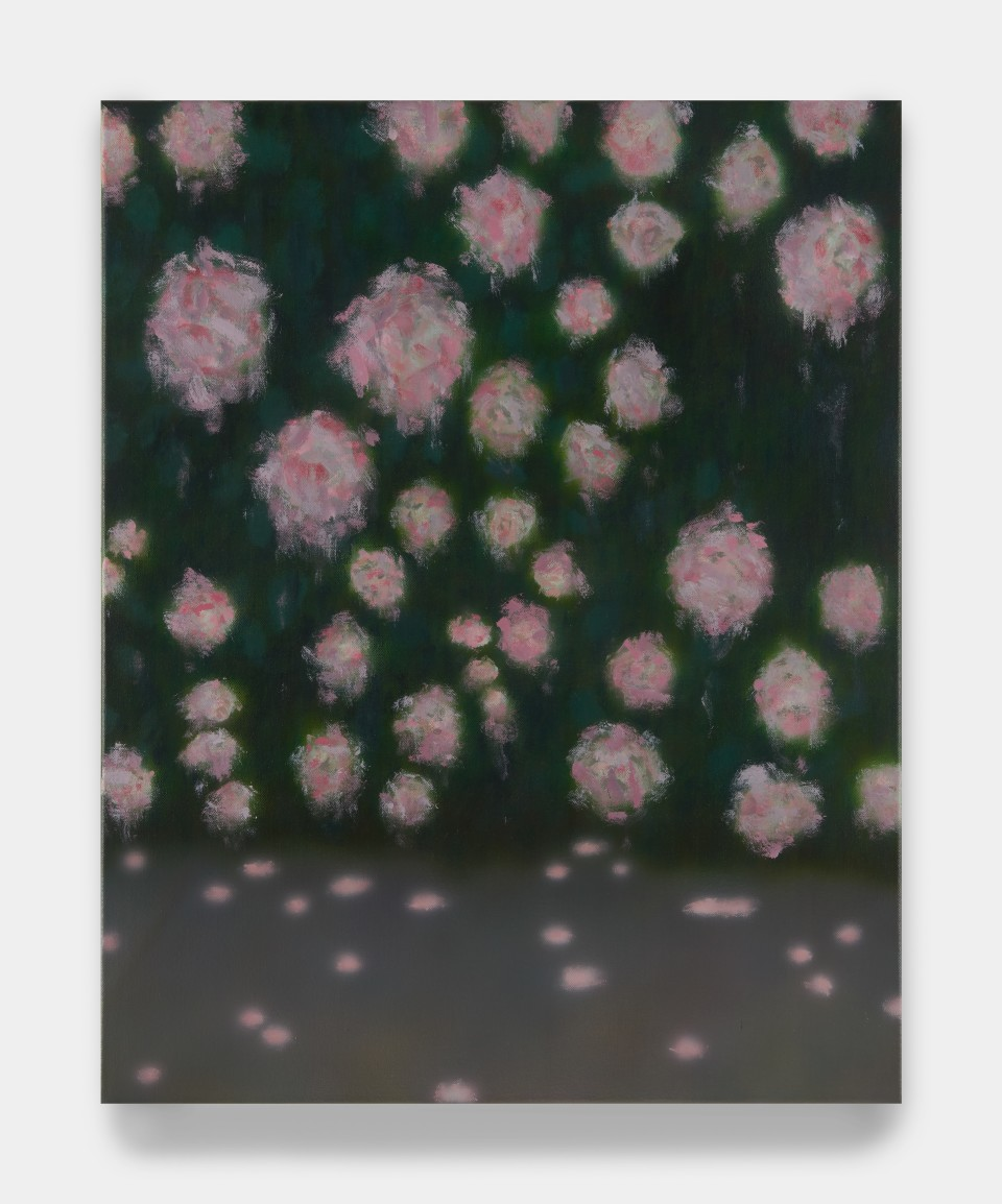 Image: Sung Hwa Kim  Nocturne: Sometimes dreams remind, Some dreams rewind time II, 2021  signed, titled and dated verso  acrylic and gouache on canvas  30 x 24 inches (76.2 x 61 cm)
