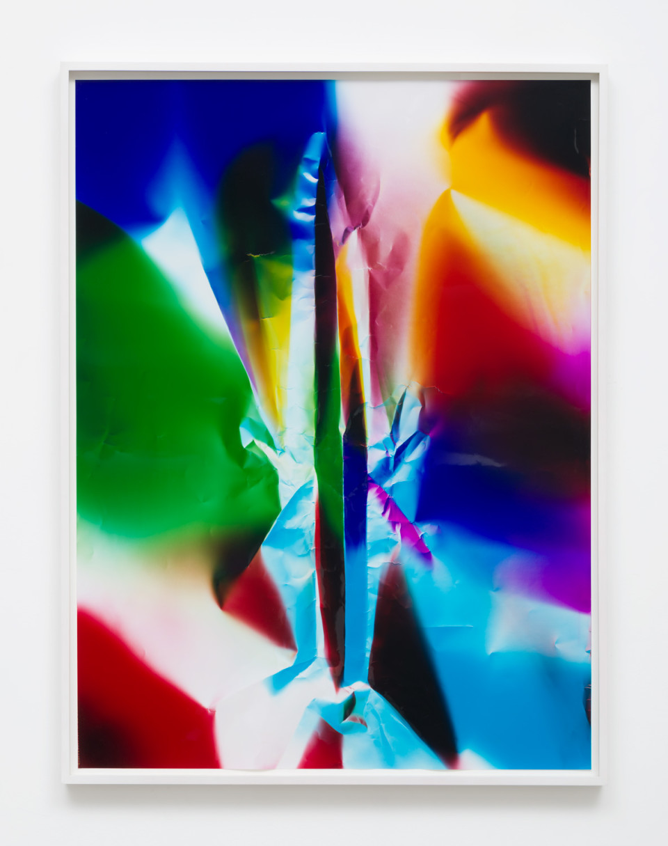 Image: Ellen Carey  Caesura, 2016  signed, dated and titled verso  unique color photogram  40 x 30 inches  (ECa.05.1619.40)