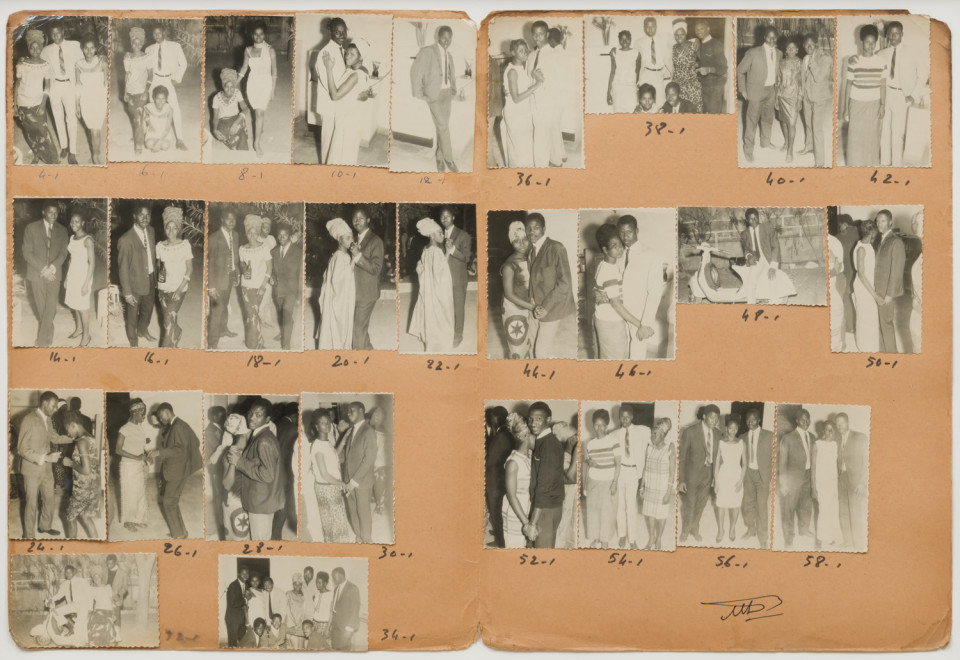 Image: Malick Sidibé  Arrosage Lansana Keita 29-1-66, 1966  numerical notations under each print and initialed recto  collection of 28 vintage gelatin silver prints mounted on paper  13-3/4 x 20-1/4 inches