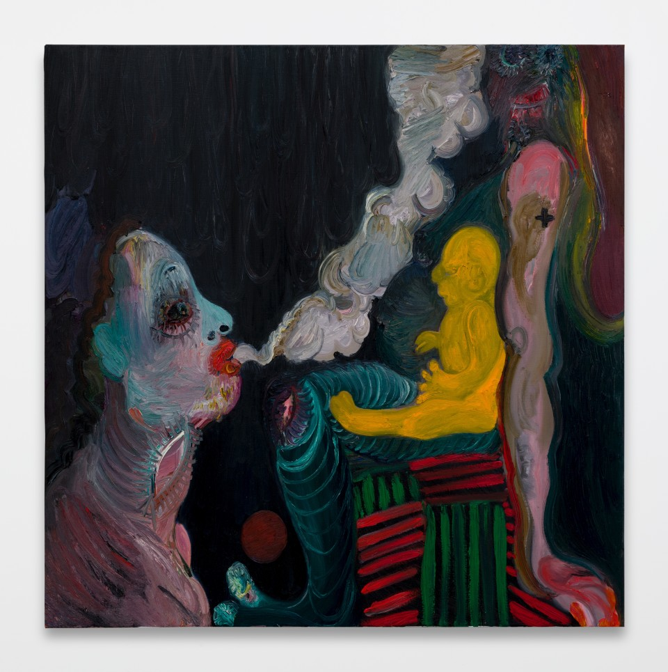 Image: Trude Viken  Smoke in the Air 6, 2019  oil on canvas  63 x 63 inches (160 x 160 cm)
