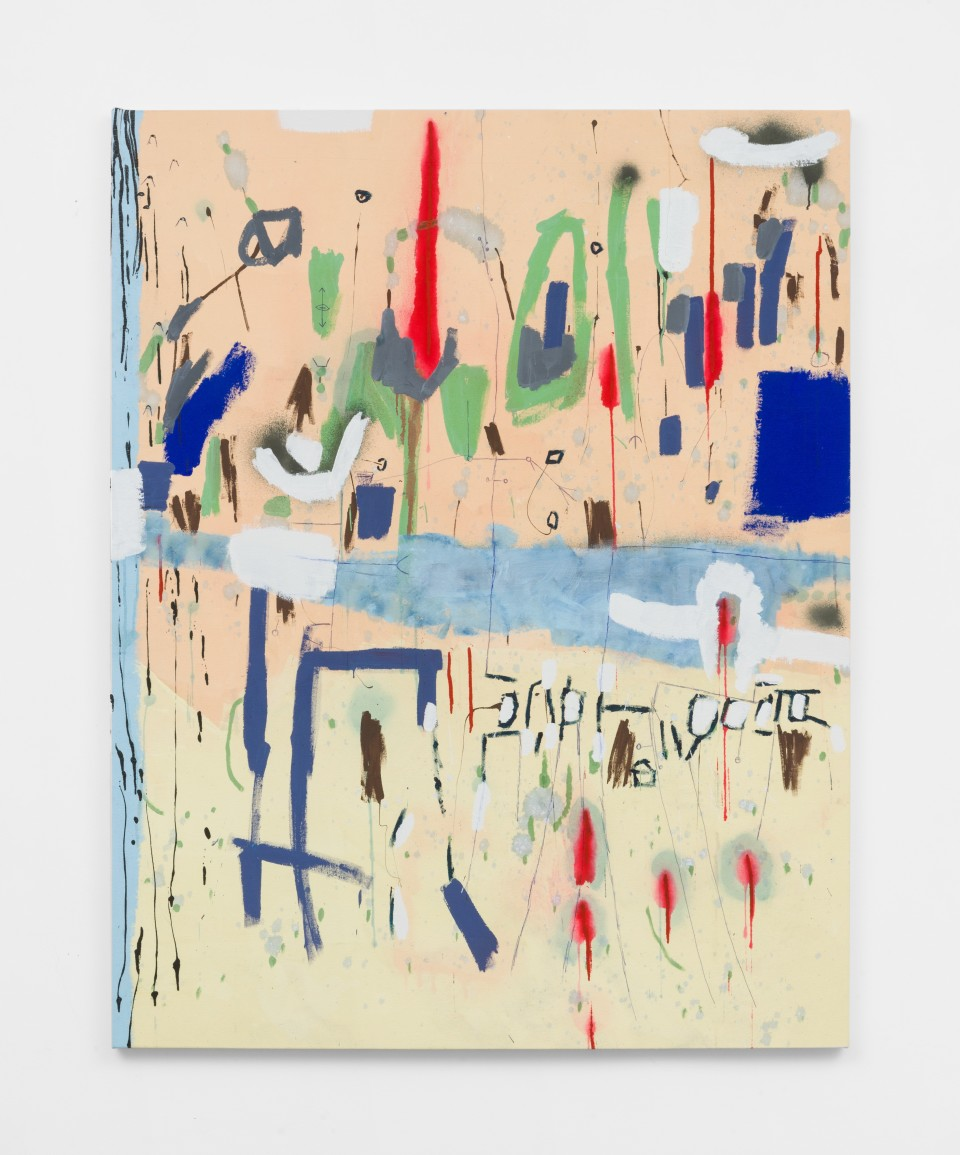Image: Laís Amaral  WET HEAD (UNTITLED), 2021  signed and dated verso  acrylic and oil pastel on canvas  67 x 53 inches (170.2 x 134.6 cm)