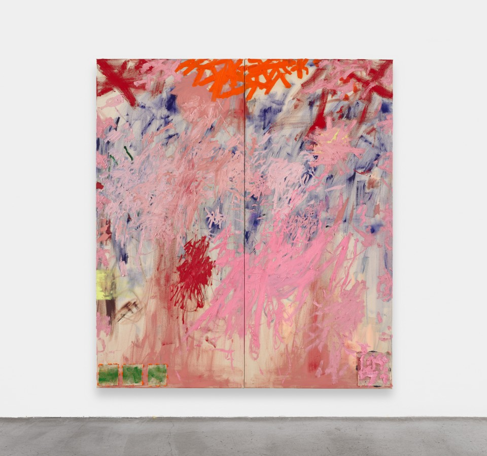 Image: Daisy Parris  Mother's Pink, 2020  signed and dated verso  oil paint on canvas  79 x 71 inches (200 x 180 cm)