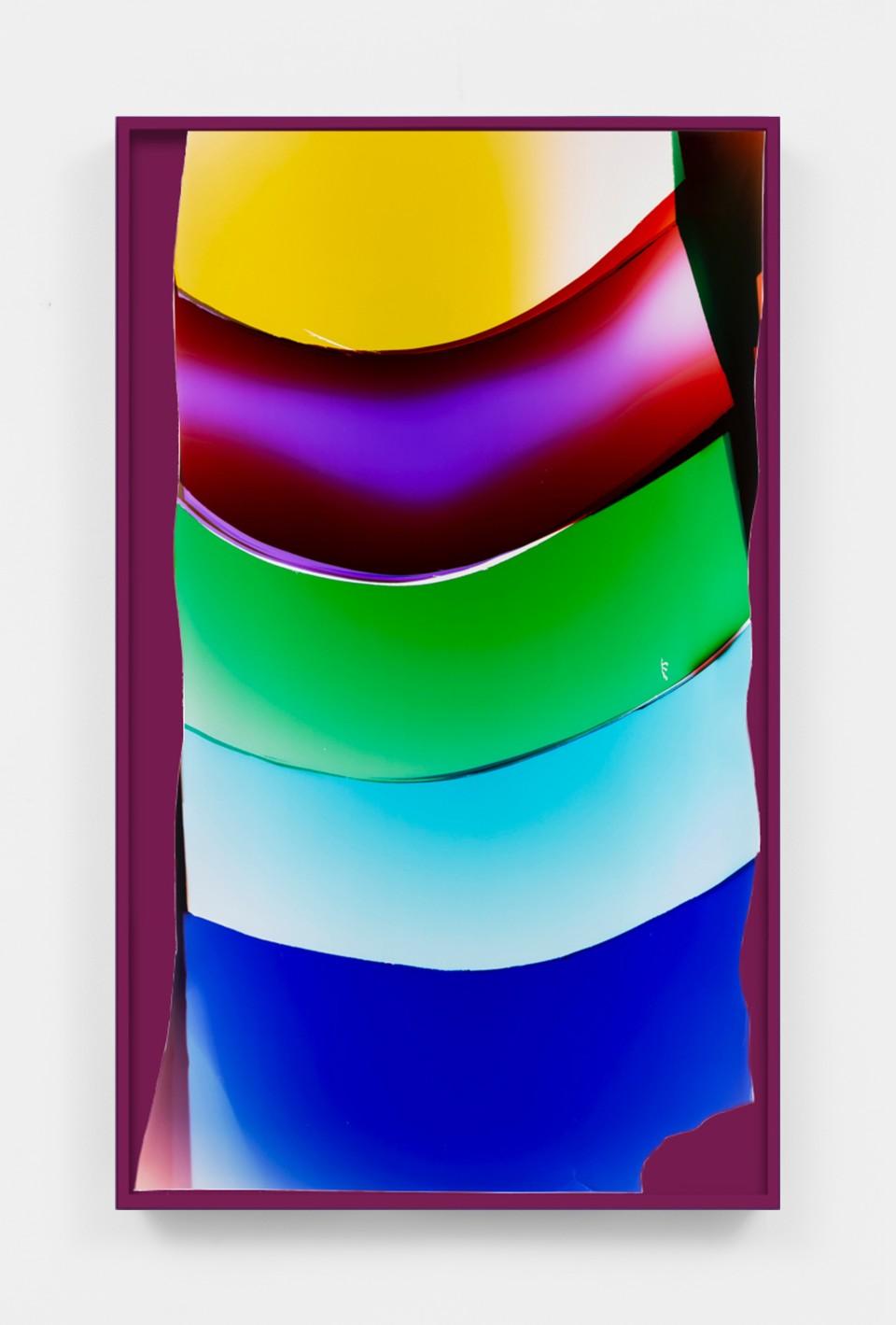 Image: Mariah Robertson  118, 2020  unique chromogenic print  50 x 30 inches (127 x 76.2 cm) (approx)
