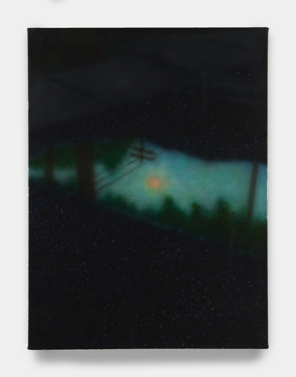 Image: Sung Hwa Kim  Nocturne: After rain, I saw a puddle of hope remains on the sidewalk, 2021  signed, titled and dated verso  acrylic on canvas  24 x 18 inches (61 x 45.7 cm)