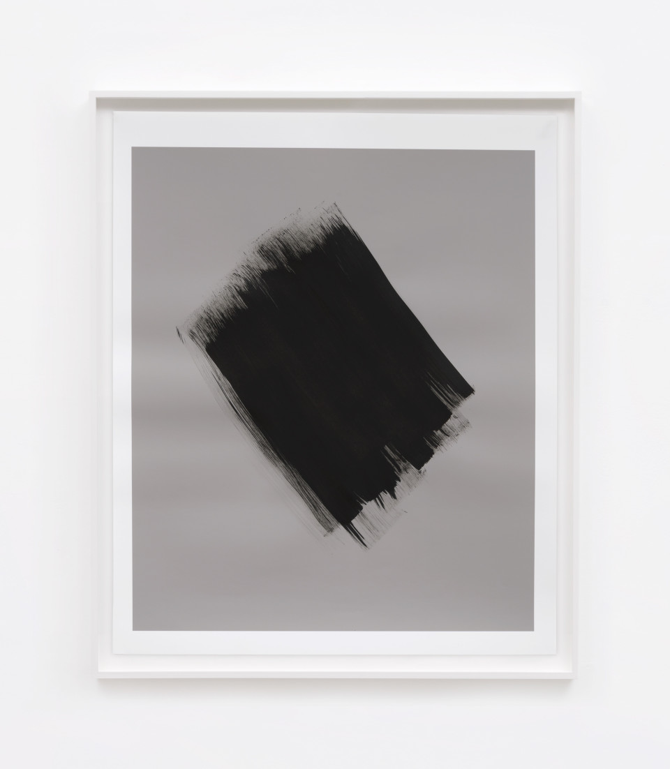 Image: Phil Chang  Replacement Ink for Epson Printers (Matte Black on 50% Grey 222602) on Epson Enhanced Matte Paper, 2017  signed and dated verso  unique archival pigment print  29-1/2 x 24-1/2 inches