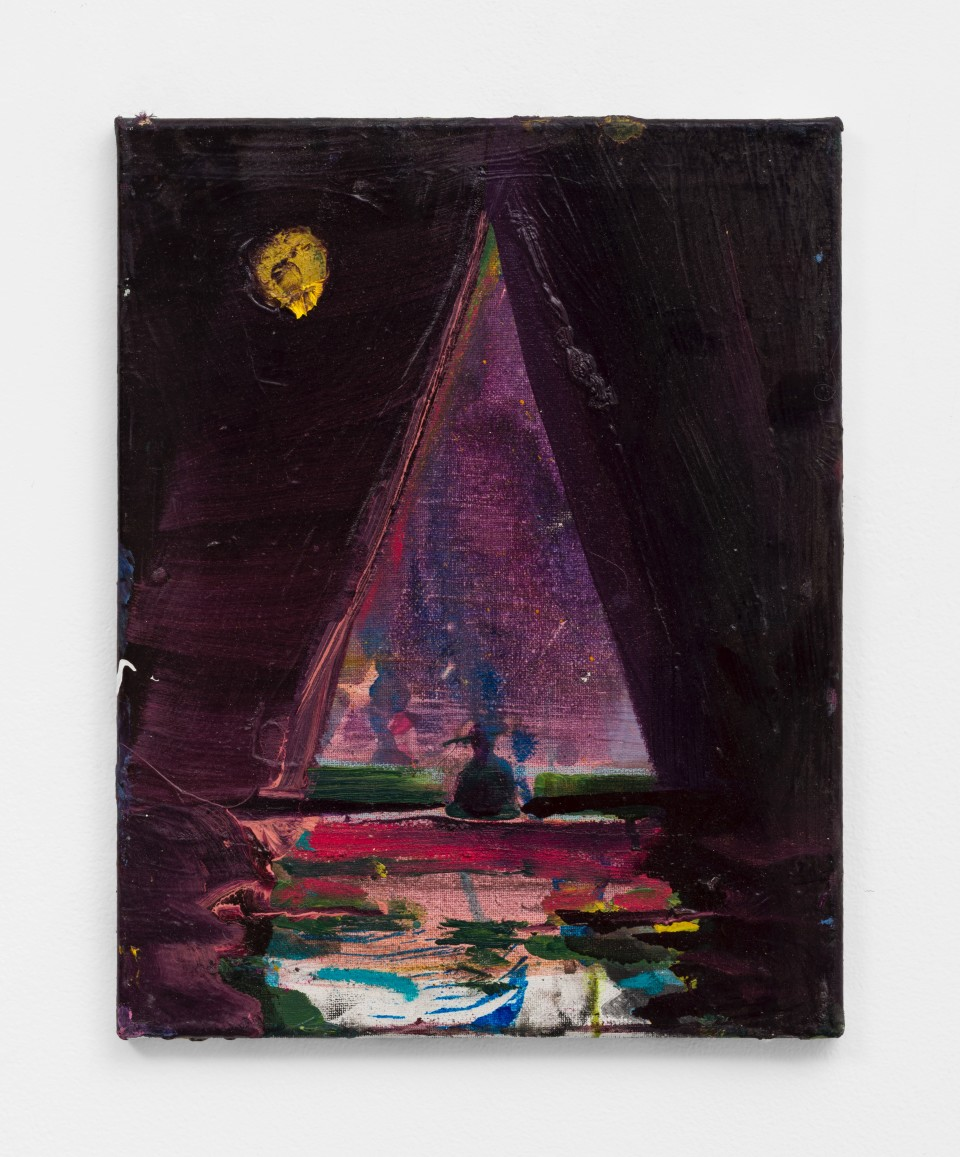 Image: Nathan Zeidman  Sailboat, 2015  signed and dated verso  acrylic and oil paint on canvas  14 x 11 inches (35.6 x 27.9 cm)
