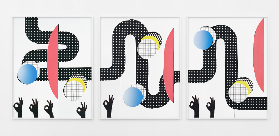Artwork: Hannah Whitaker  OK,OK,OK,OK,OK,OK (triptych), 2017  archival pigment print  50 1/2 x 120 inches (128.3 x 304.8 cm)  edition of 3 plus 2 artist's proofs