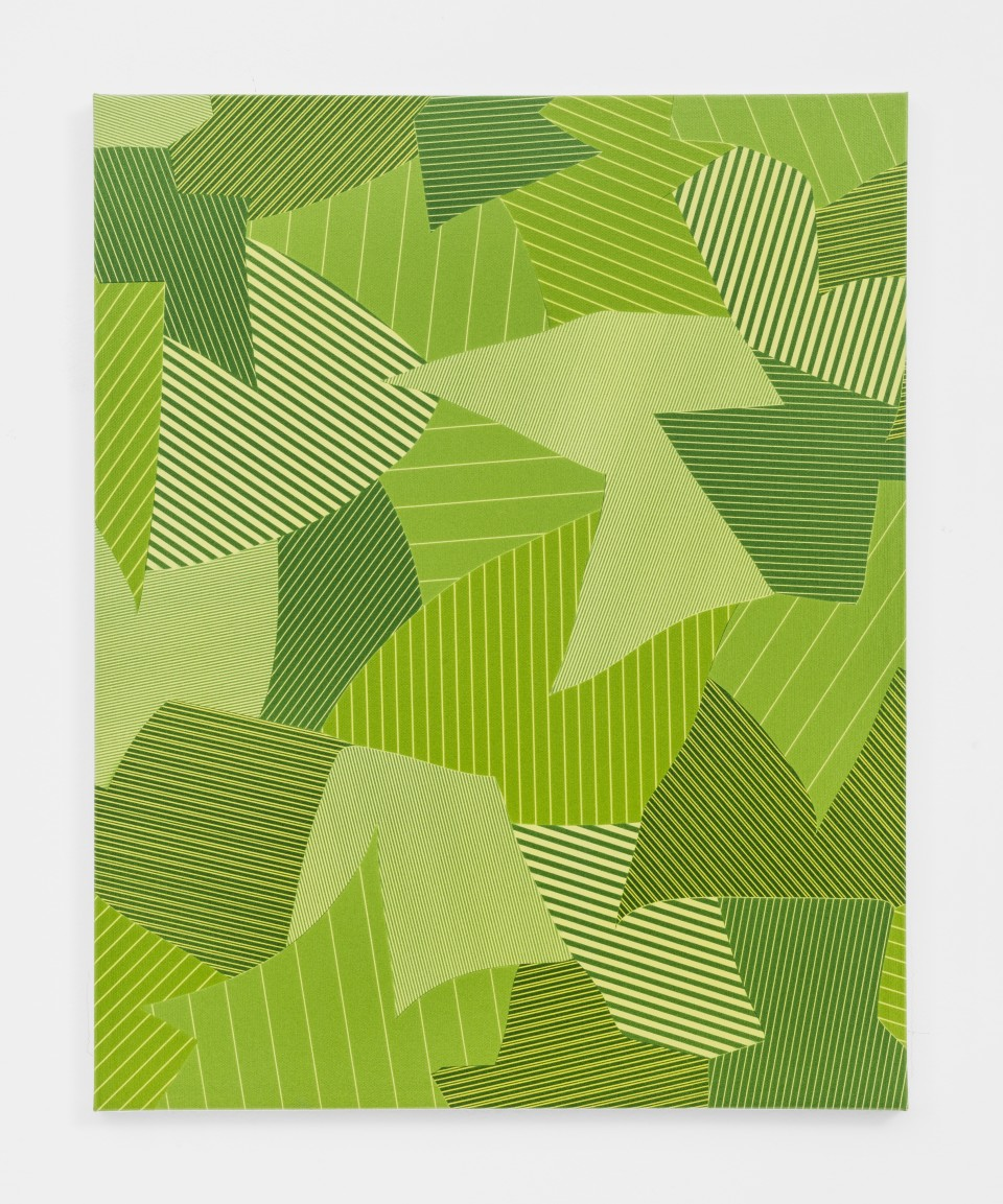 Image: Cameron Martin  Parcel, 2016  signed verso  acrylic on canvas  19 7/8 x 16 inches (50.5 x 40.6 cm)