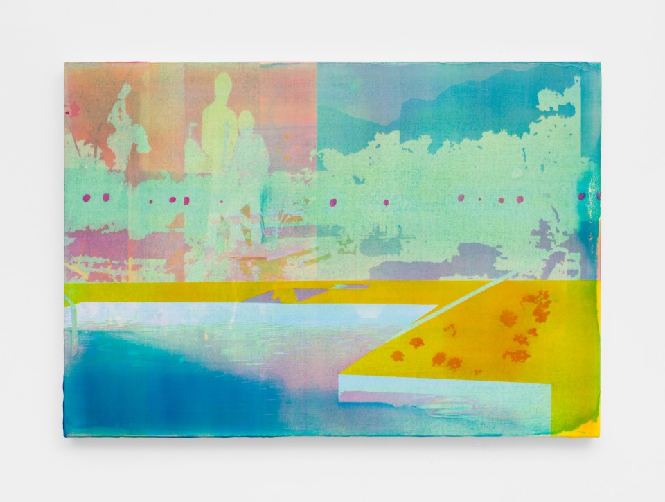 Image: Zoe Walsh  Whatever the river sent, 2020  signed and dated verso  acrylic on canvas-wrapped panel  20 x 28 1/2 inches (50.8 x 72.4 cm)