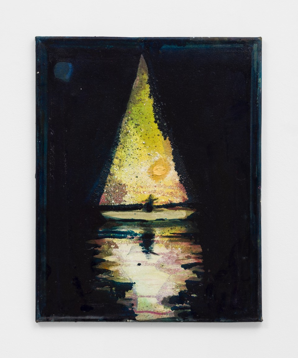 Image: Nathan Zeidman  Sailboat, 2015  signed and dated verso  acrylic and marble dust  20 x 16 inches (50.8 x 40.6 cm)