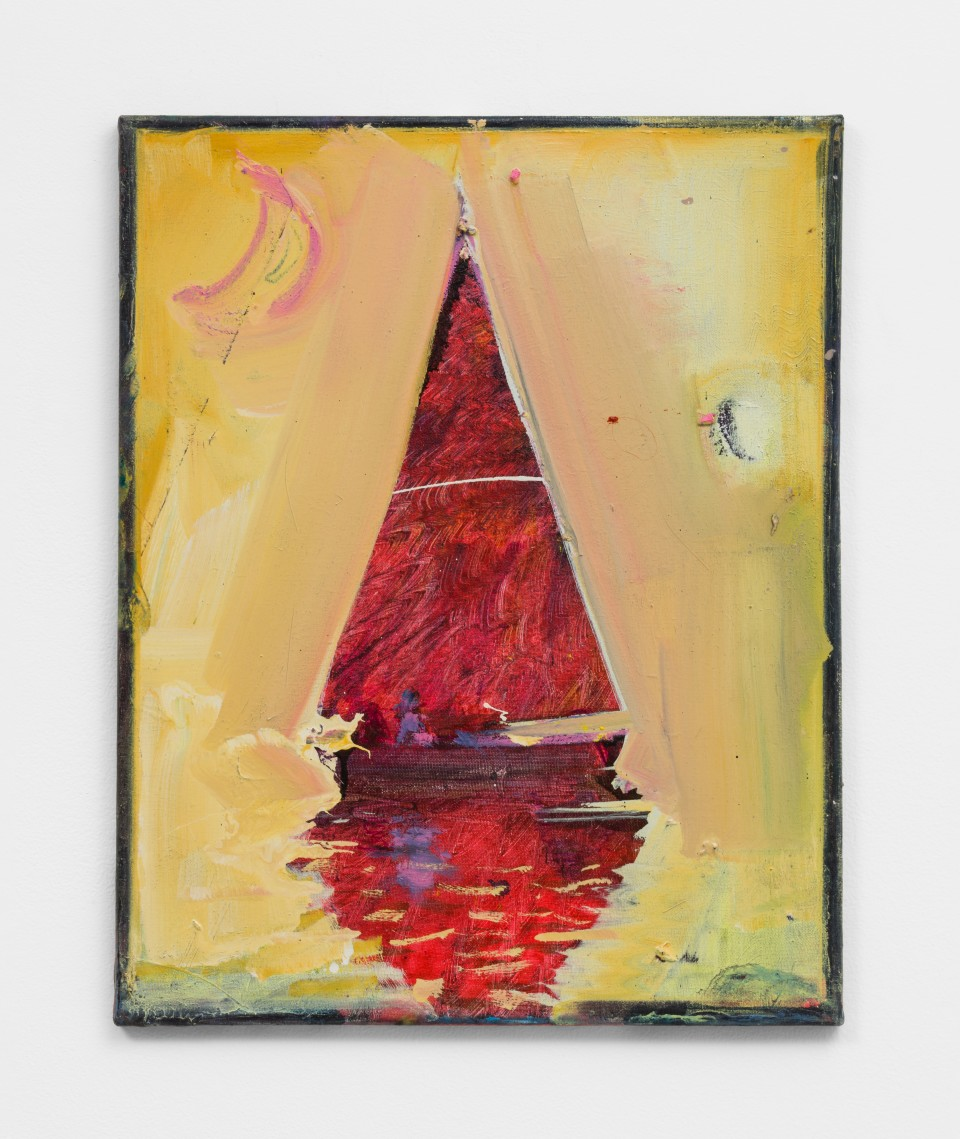 Image: Nathan Zeidman  Sailboat, 2015  signed and dated verso  acrylic on canvas  20 x 16 inches (50.8 x 40.6 cm)