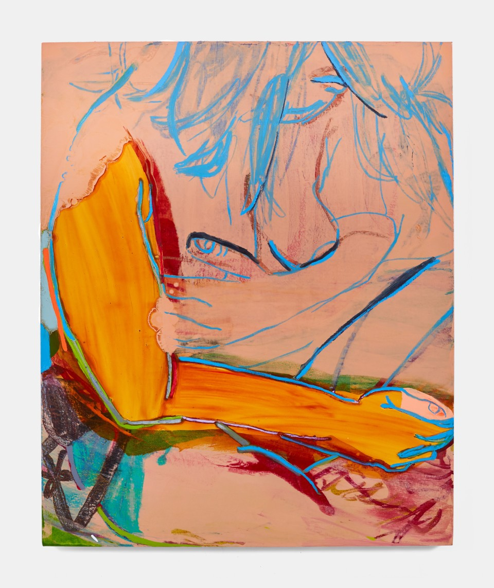 Image: Sarah Faux  Nude breeze, 2019  oil on canvas  44 x 36 inches (111.8 x 91.4 cm)