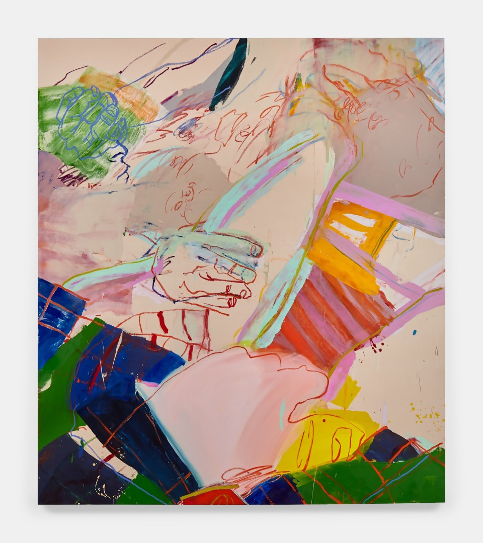 Image: Sarah Faux  Sleeping arrangements, 2019  oil on canvas  80 x 70 inches (203.2 x 177.8 cm)