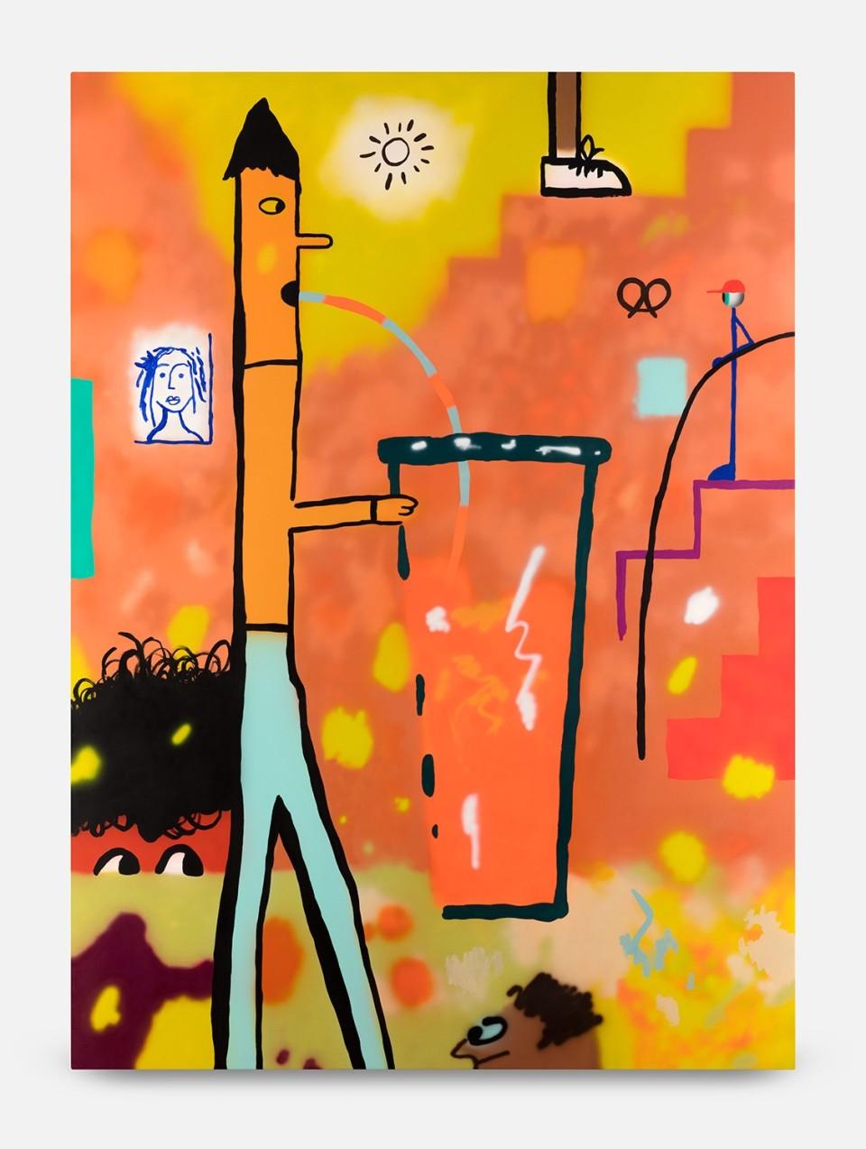 Image: Joshua Nathanson  Juice, 2016  acrylic on canvas  74 x 54 x 1-1/2 inches