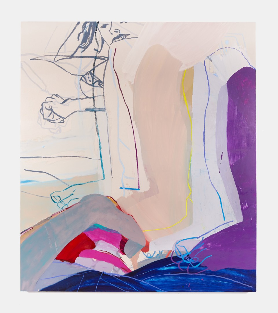 Image: Sarah Faux  Stuttering due to vibration, 2019  oil on canvas  80 x 70 inches (203.2 x 177.8 cm)