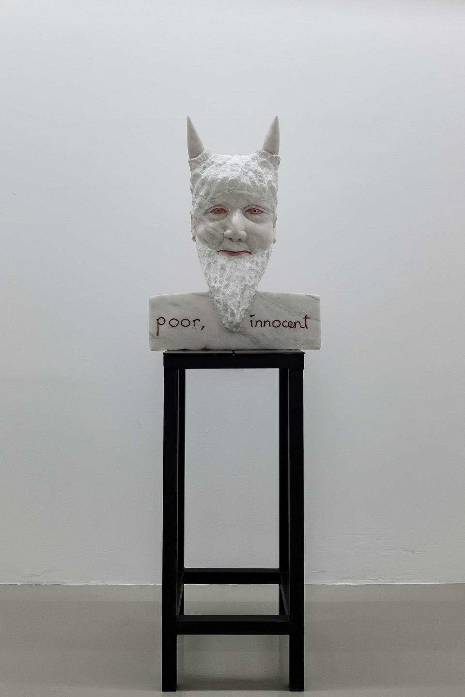 Markus Redl  Stein 90 [Gender Studies], 2008  Rosa Aurora 78 kg  74 x 52 x 30 cm 29 1/8 x 20 1/2 x 11 3/4 in