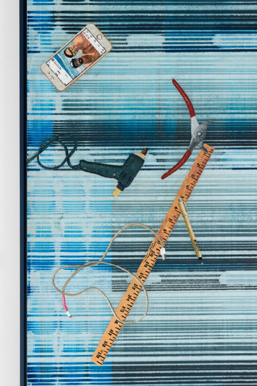 Image: Matthew Brandt, Heidelberg Blanket C1 (Damiani Editore, Faenza, Italy), 2018, detail