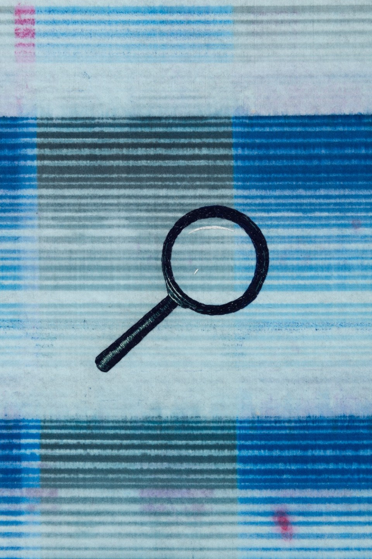 Image: Matthew Brandt, Heidelberg Blanket CM1 (Damiani Editore, Faenza, Italy), 2018, detail