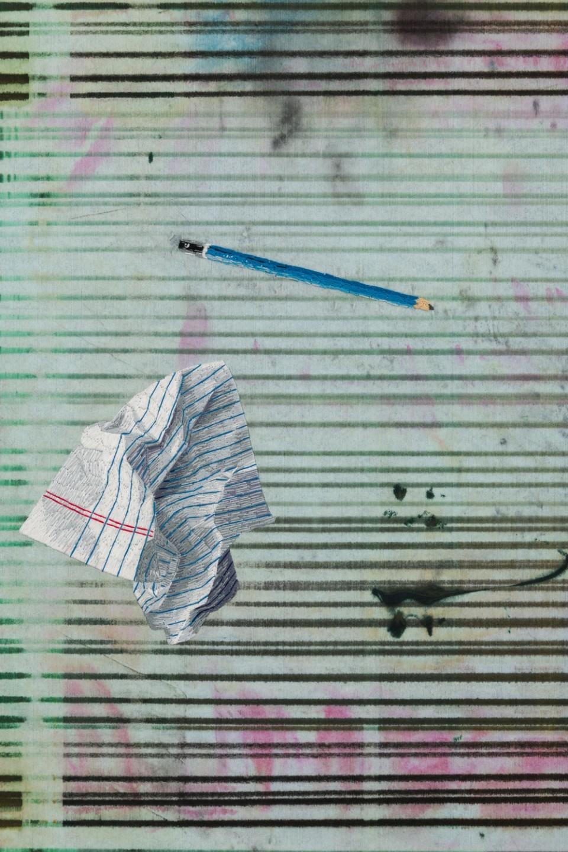 Image: Matthew Brandt, Heidelberg Blanket K1 (Damiani Editore, Faenza, Italy), 2018, detail
