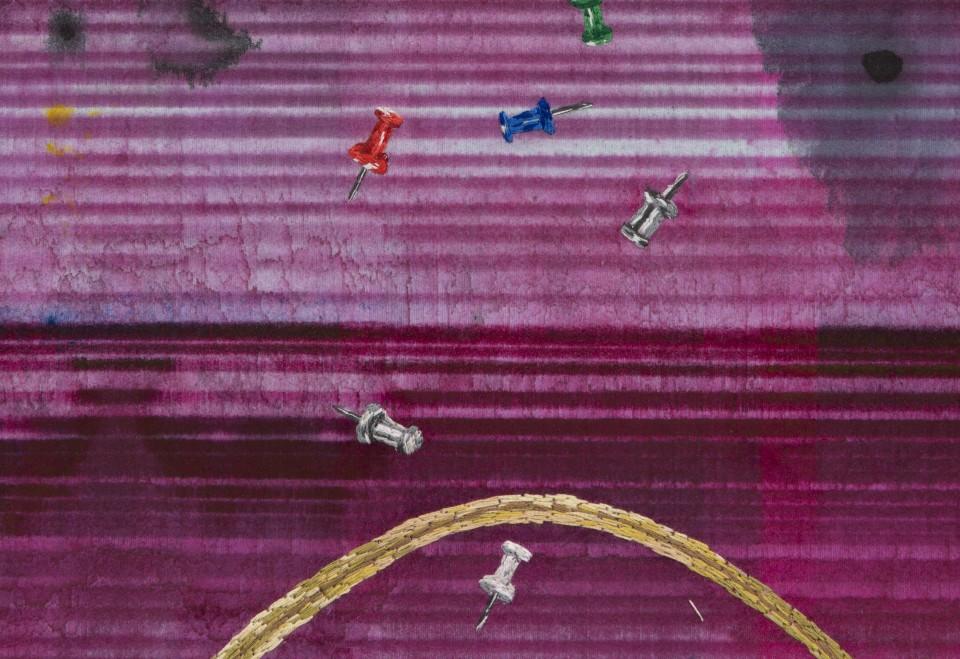 Image: Matthew Brandt, Heidelberg Blanket M1 (Damiani Editore, Faenza, Italy), 2018, detail