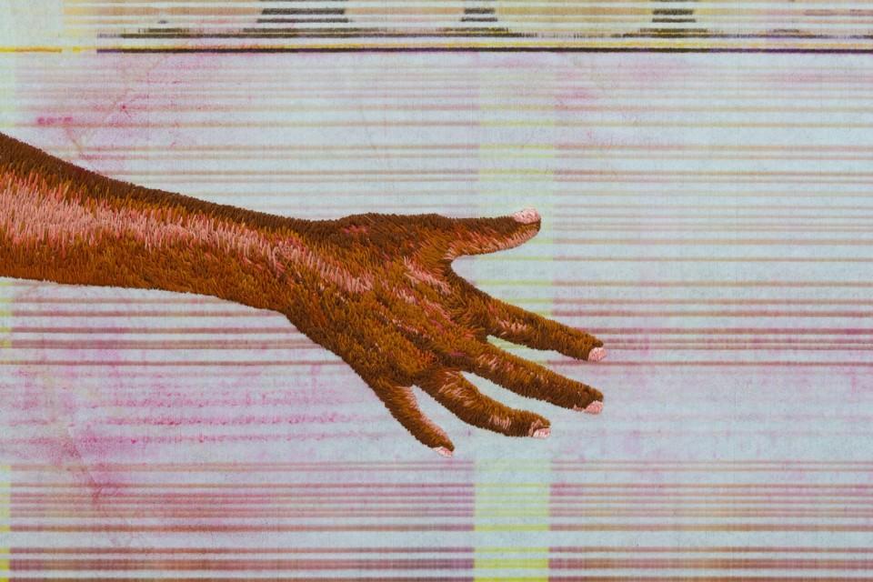 Image: Matthew Brandt, Heidelberg Blanket Y1 (Damiani Editore, Faenza, Italy), 2018, detail