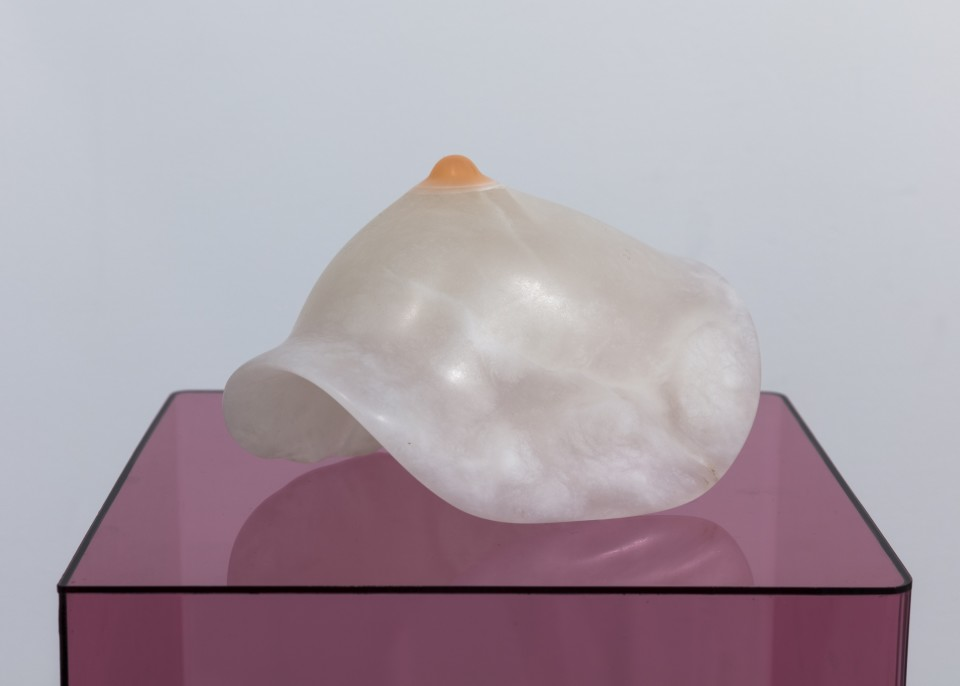 Image: Nevine Mahmoud, Breast impression, 2018, alabaster and resin, 5 x 6 x 8 inches