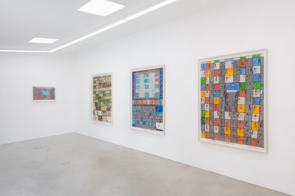 Image: Installation view of Artwork By Dapper Bruce Lafitte, A NOLA Icon at M+B, Los Angeles