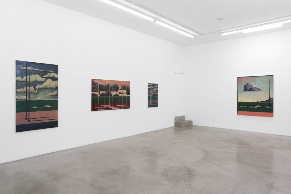 "Image: Installation view of Leo Mock: "". . . and still somehow"" at M+B, Los Angeles"
