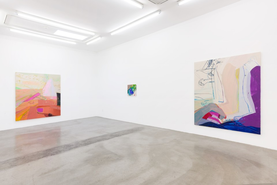 Image: Installation view of Sarah Faux: Clench and Release at M+B, Los Angeles