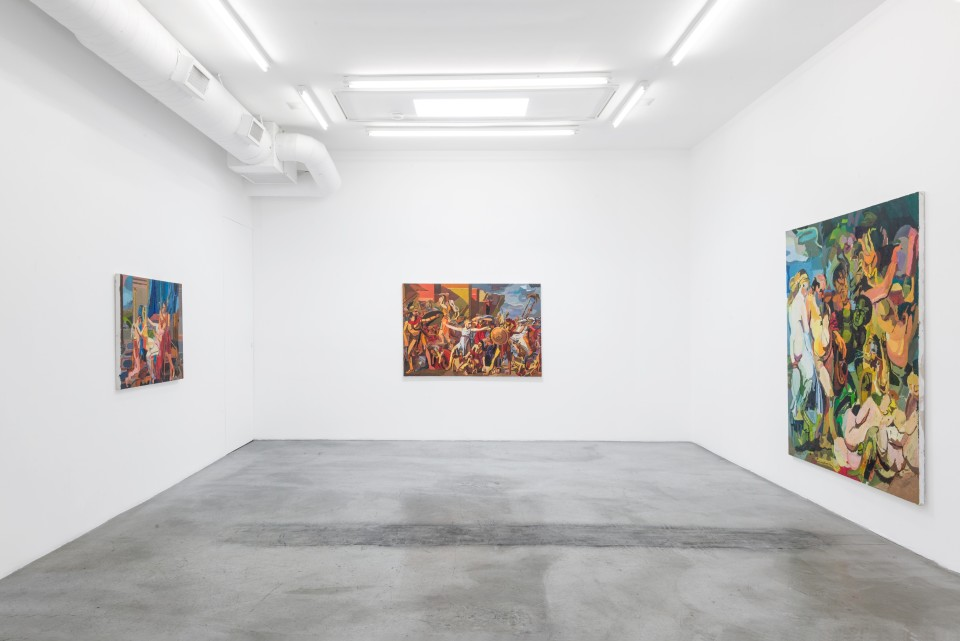Image: Installation view of Clintel Steed: Allegory of Now at M+B, Los Angeles