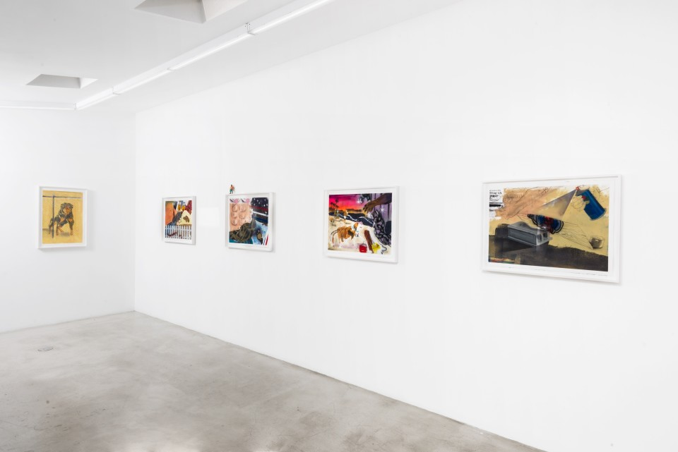 Image: Installation view of Pat Phillips: Summer Madness at M+B, February 12 - March 14, 2020