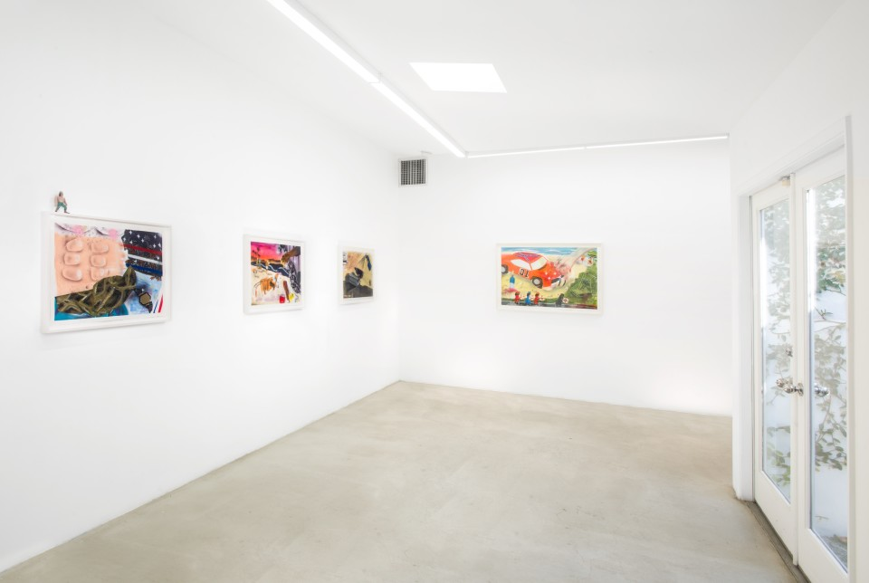Image: Installation view of Pat Phillips: Summer Madness at M+B, February 12 - 14, 2020