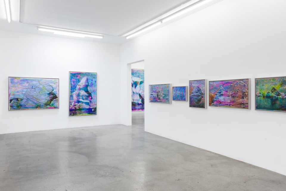 Image: Installation view of Matthew Brandt: Vatnajökull at M+B, March 21 - June 20, 2020
