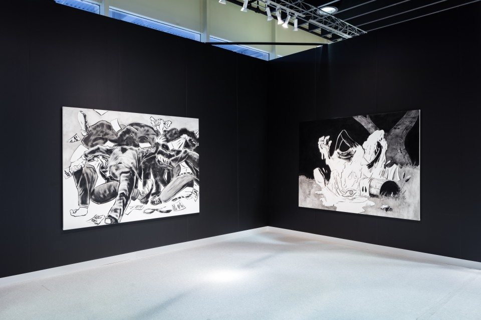 Image: Installation view of Mark Thomas Gibson solo exhbition at The Armory Show 2020.