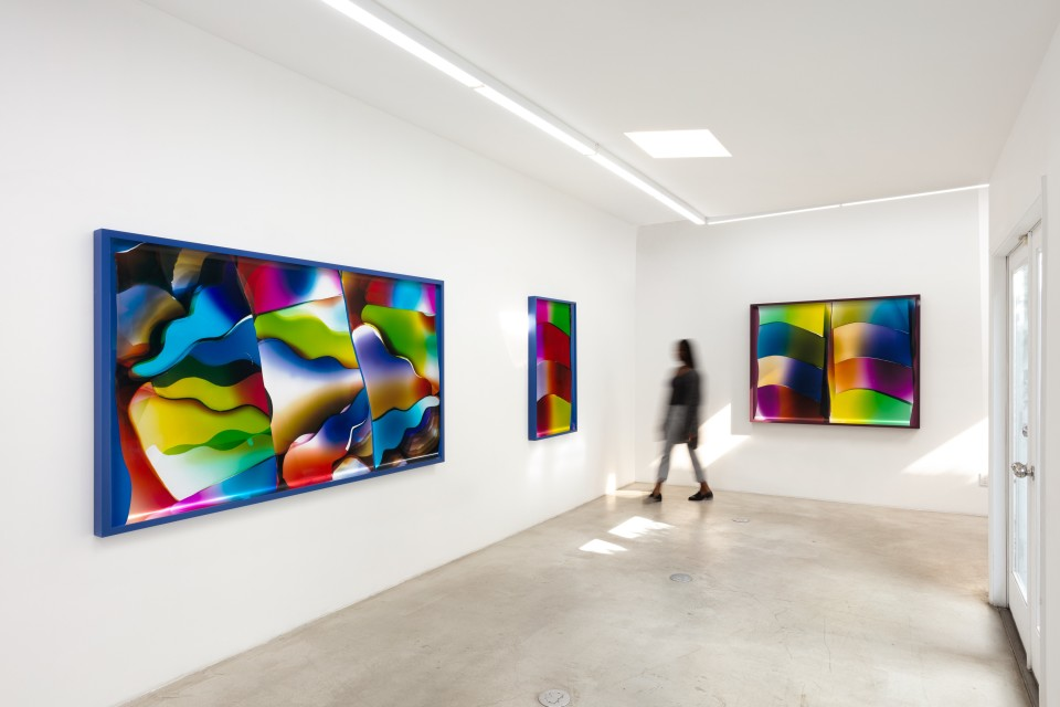 Image: Installation View of Mariah Robertson: Repetition & DIfference at M+B, Janaury 23 - February 27, 2021