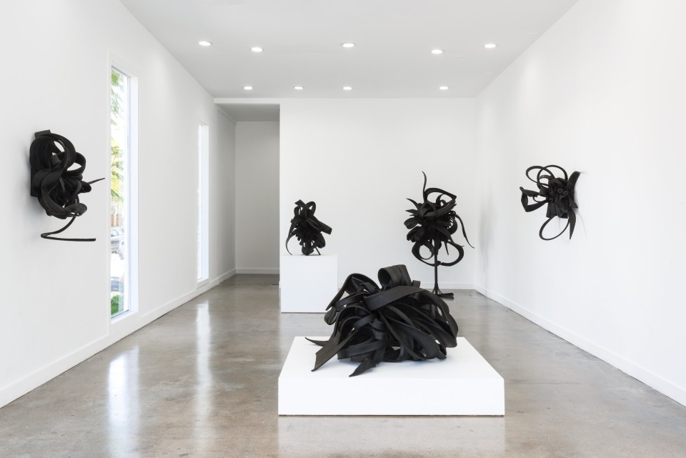 Image: Installation View of Chakaia Booker: FUTURE EQUITY at M+B, March 27 - May 1, 2021