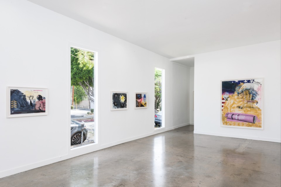 Image: Installation view of Pat Phillips: Untitled (Works on Paper) at M+B Doheny, May 15 - June 19