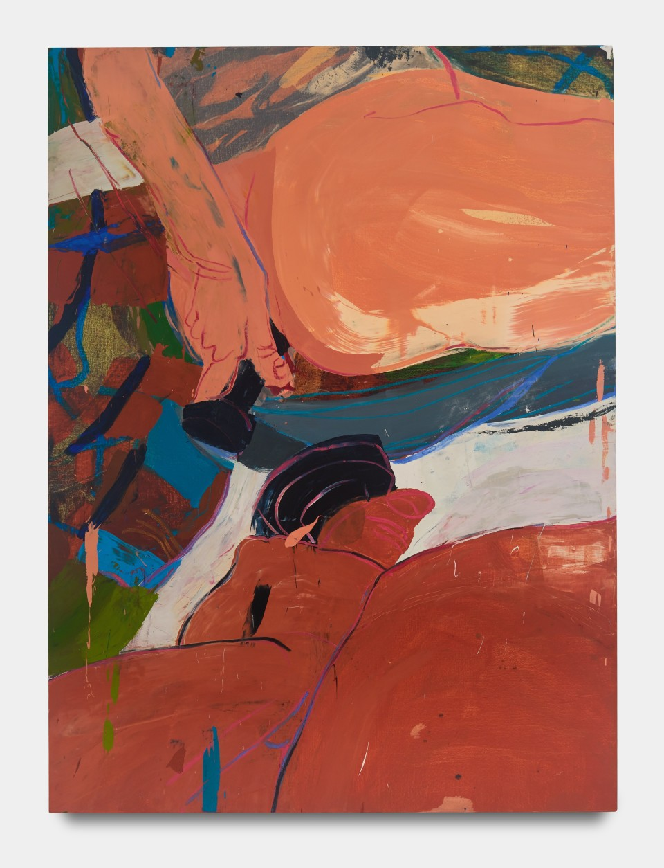 Image: Sarah Faux  Excuse me if I may, 2020  signed and dated verso  oil on canvas  62 x 46 inches